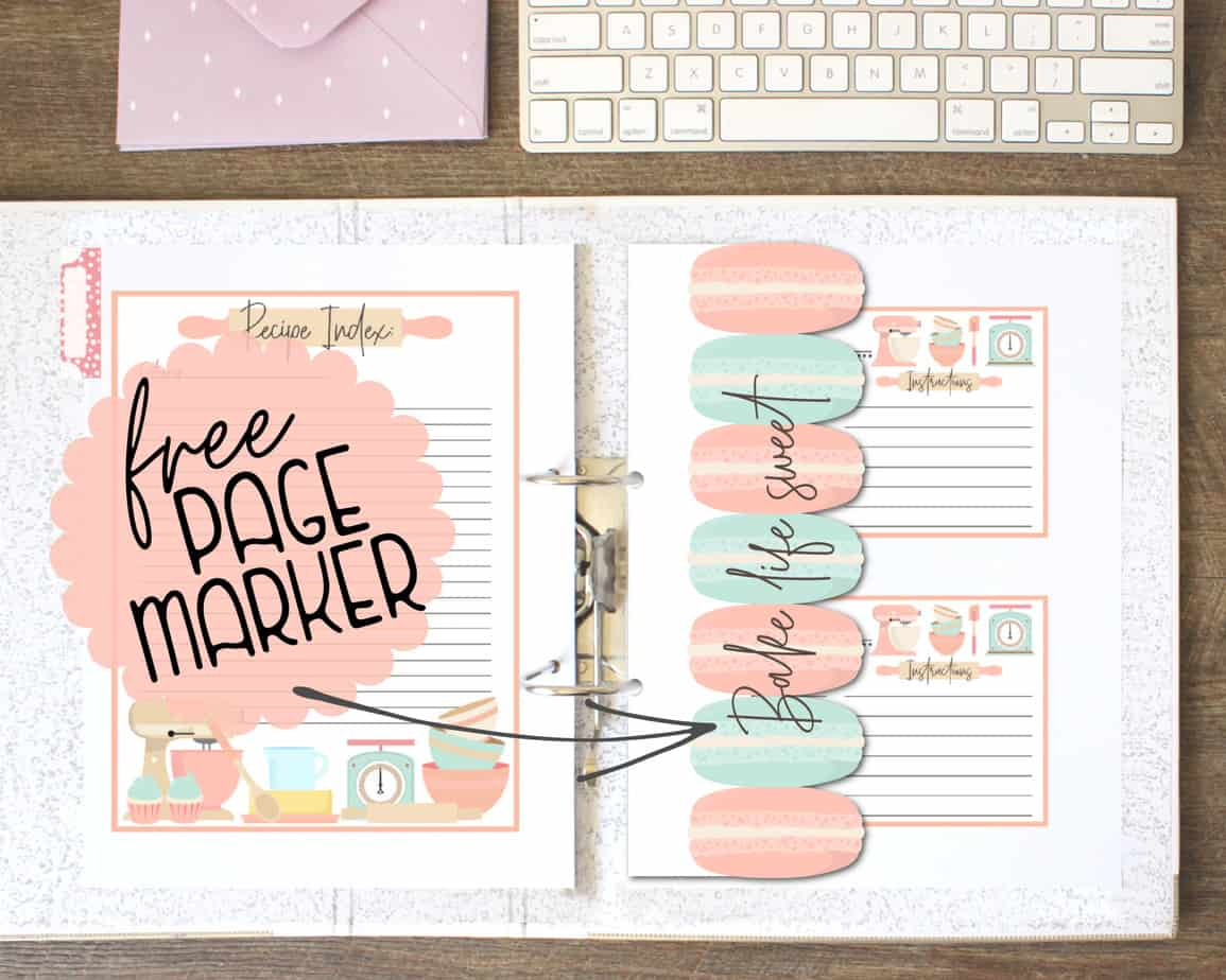 recipe binder printables and templates for making a DIY recipe binder or cookbook