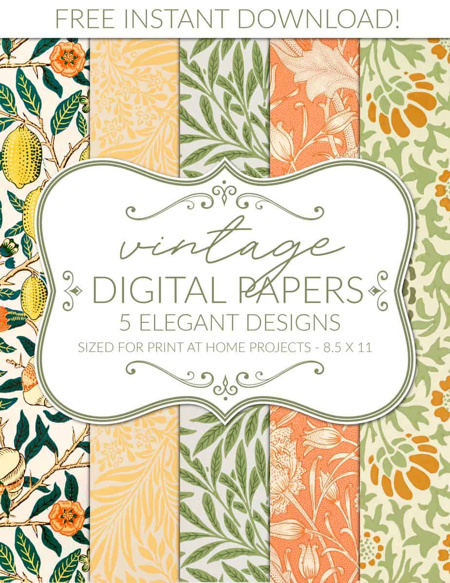 free digital paper printable scrapbook paper