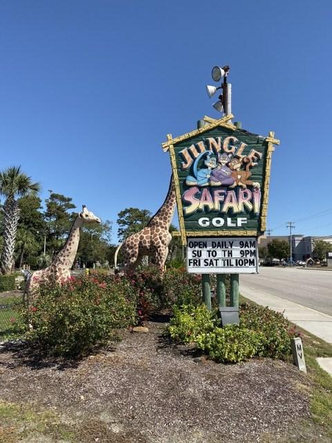Jungle Safari Mini Golf Myrtle Beach Sc A Couple Of Putts