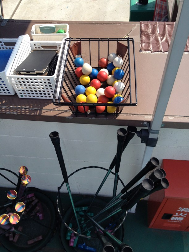 Balls and special putters.