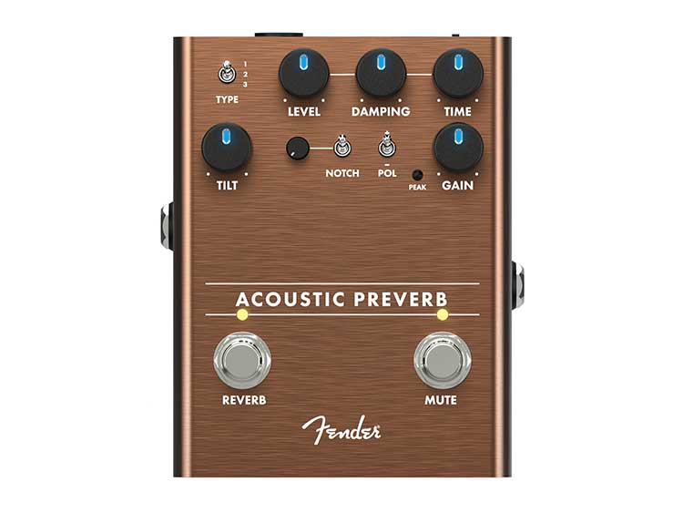 Fender Acoustic Preverb reverb effects pedal