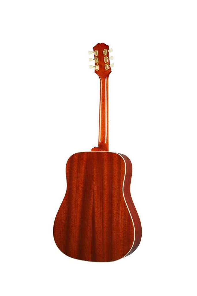 Epiphone Inspired by Gibson Hummingbird acoustic guitar cherry burst mahogany back