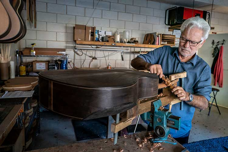 Guitar luthier Kenny Hill