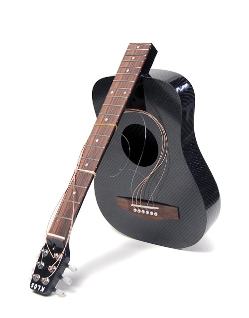 gear review klos carbon fiber acoustic electric travel guitar acoustic guitar. Black Bedroom Furniture Sets. Home Design Ideas