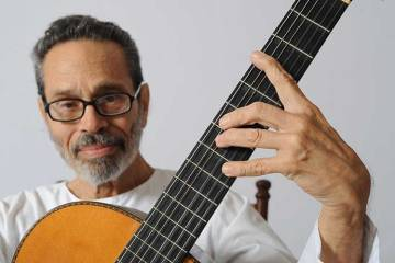 Classical guitarist and composer Leo Brower playing guitar