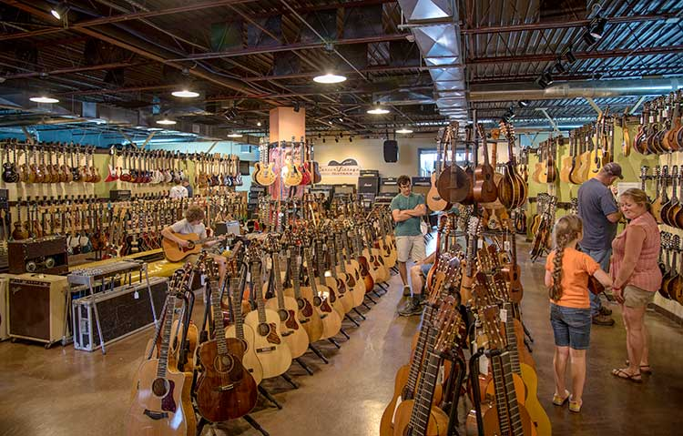 Carter Vintage Guitars in Nashville is known for its great selection of classical guitars