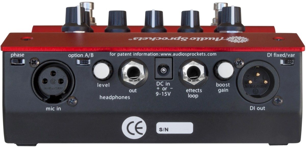 Audio Sprockets ToneDexter - Rear Panel