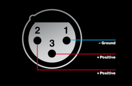 phantom power XLR diagram