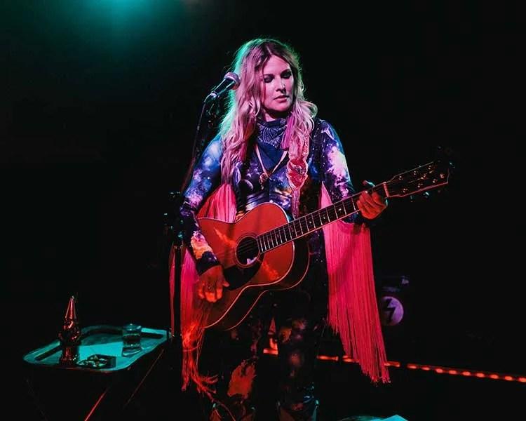 Nashville guitarist elizabeth cook performing onstage