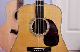 acoustic guitar front face natural finish