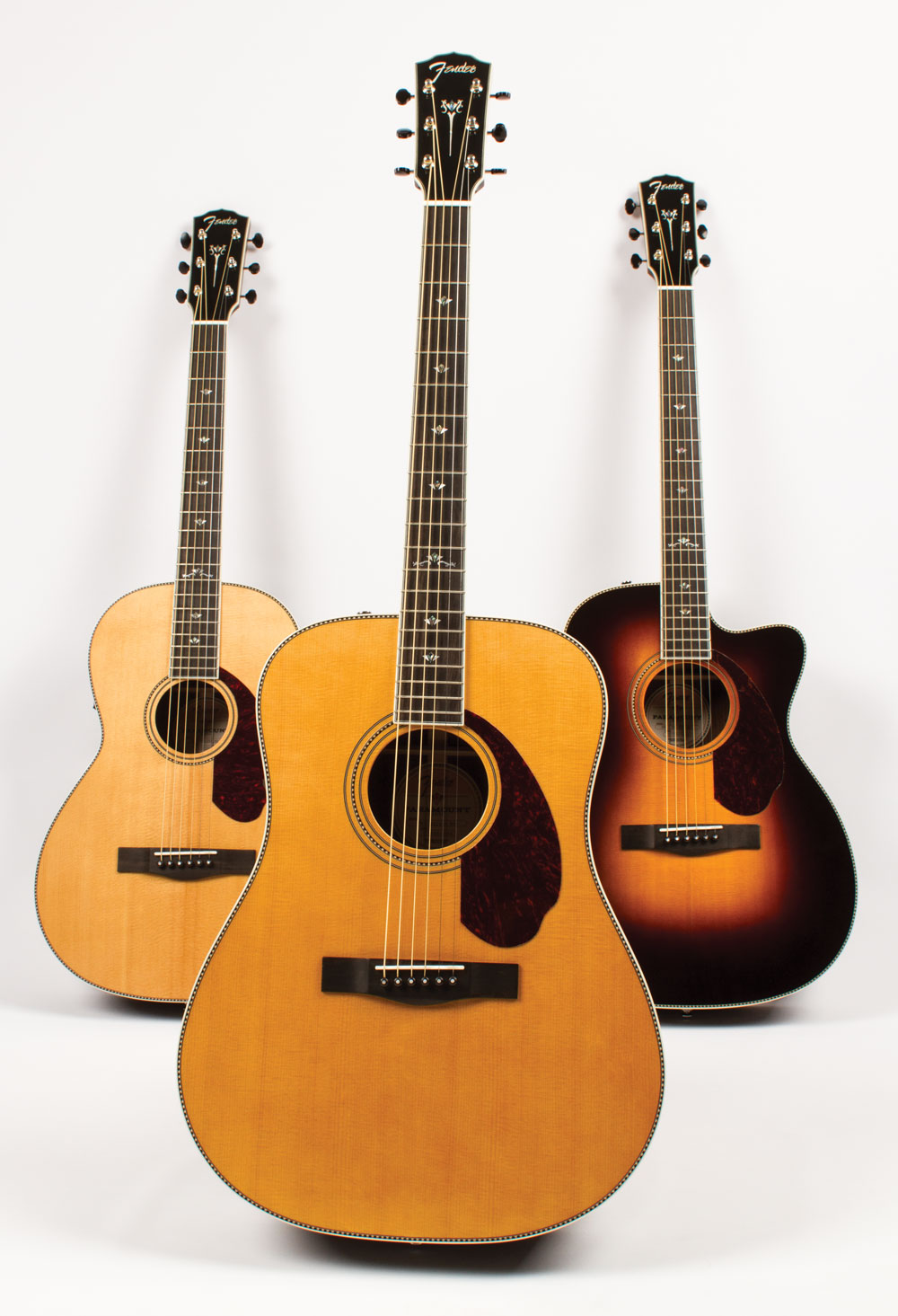 video review comparing 3 new fender acoustics from the paramount deluxe series acoustic guitar. Black Bedroom Furniture Sets. Home Design Ideas