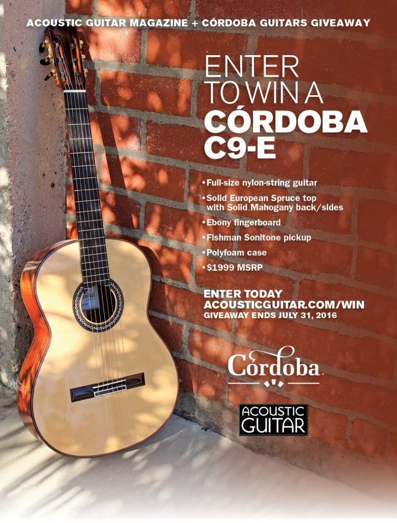 acoustic guitar giveaway 2019 enter to win a c 243 rdoba c9 e acoustic guitar 7936