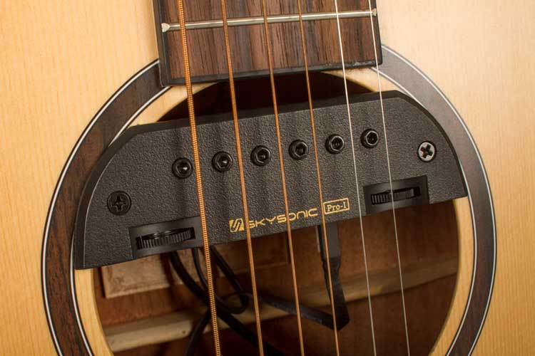 video review skysonic s pro 1 acoustic guitar pickup system offers flexibility tonal. Black Bedroom Furniture Sets. Home Design Ideas