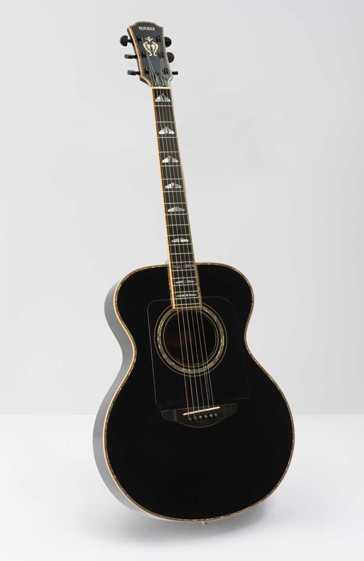 paul simon words music exhibit now open in la at the skirball cultural center acoustic guitar. Black Bedroom Furniture Sets. Home Design Ideas