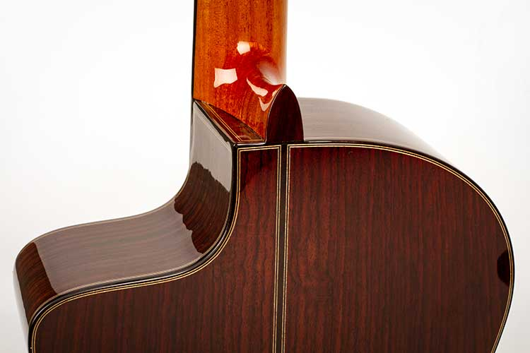 New World Guitars P640S FS Nylon-String Guitar back closeup
