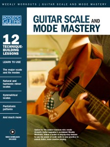 Book cover for Guitar Scale and Mode Mastery: 12 technique-building lessons