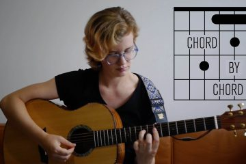 Kate Koenig teaching the C-G chord progression on guitar