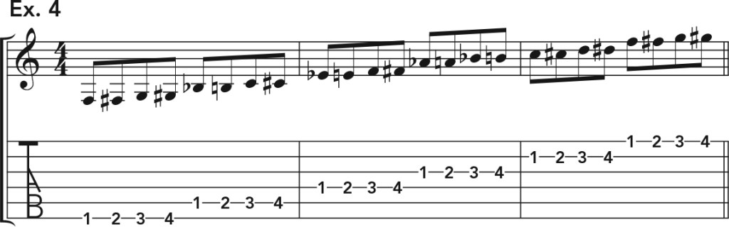 how to get good acoustic guitar tone, ex. 4 music notation