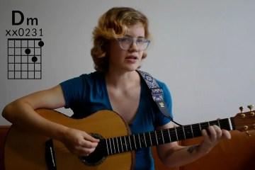 Kate Koenig teaches the D minor guitar chord