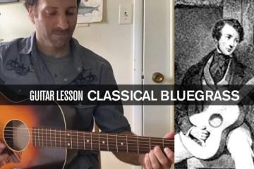 pickin guitar lesson classical bluegrass