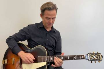 Greg Ruby teaches How to Visualize and Play Chords Up the Neck