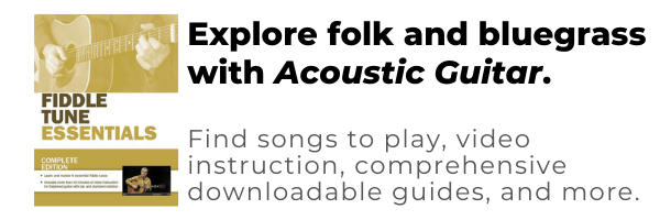 folk, bluegrass, country lessons from acoustic guitar magazine