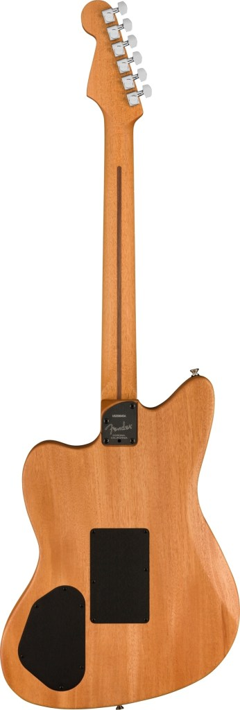 Photo of the back of the Acoustasonic Jazzmaster acoustic-electric guitar