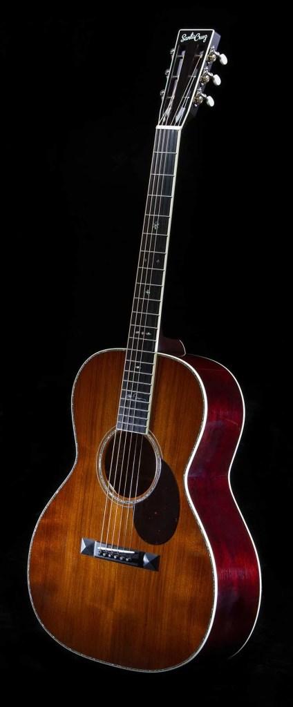 Santa Cruz HT-13 acoustic guitar vertical