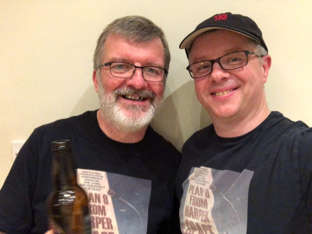 Two Nick Harper fans wearing Harperspace T-shirts