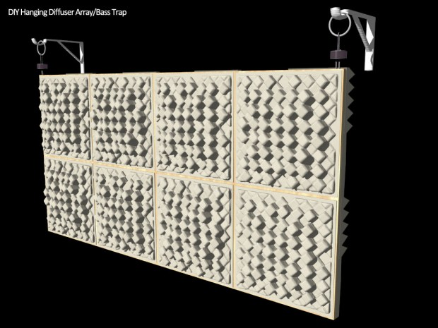 DIY Back Wall Diffuser ArrayBass Trap  Acoustics First BLOG