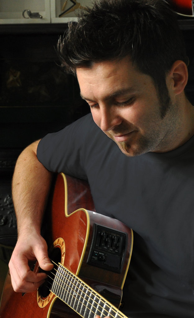 Mark Graham playing guitar