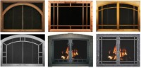 Glass Doors  A Cozy Fireplace