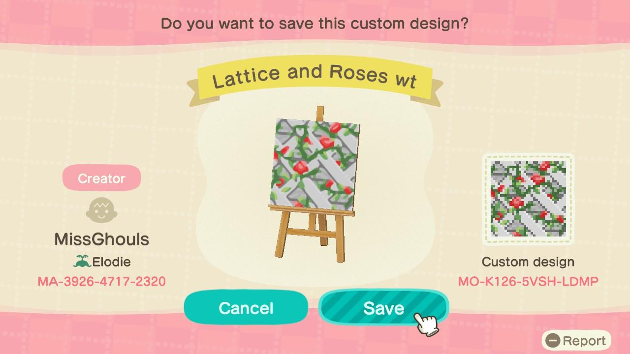 White Lattice Patterns Animal Crossing Pattern Gallery Custom Designs