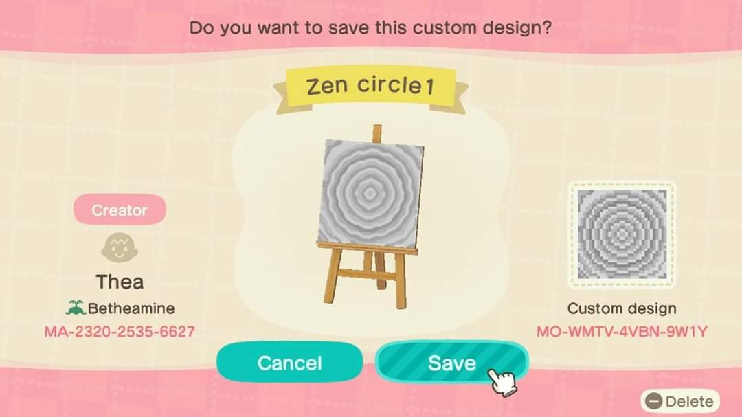 Zen Garden White Sand Animal Crossing Pattern Gallery Custom Designs