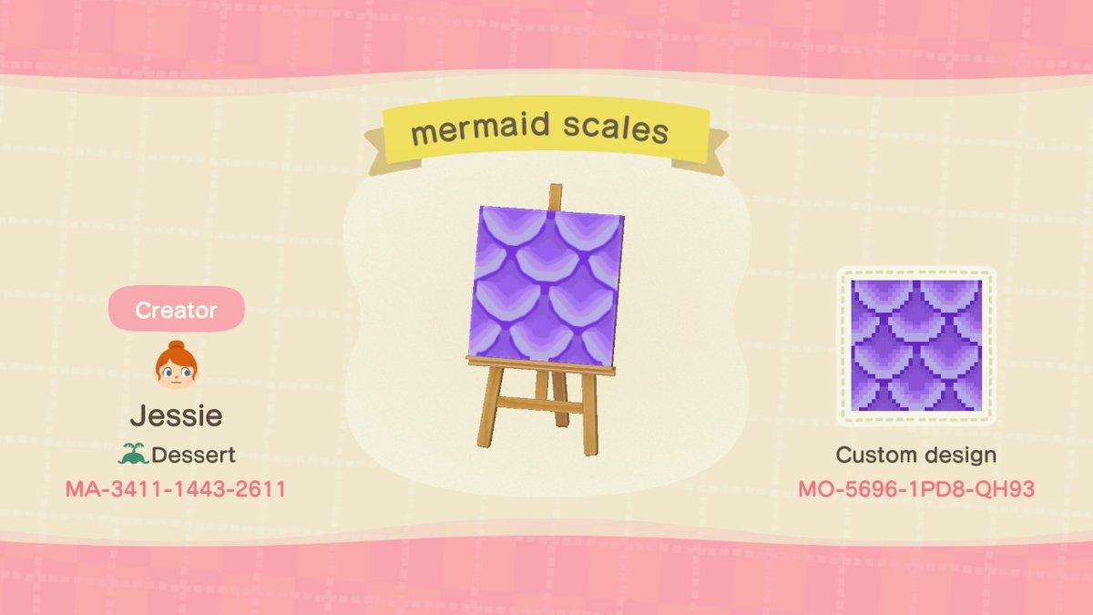 Mermaid Scales Animal Crossing Pattern Gallery Custom Designs