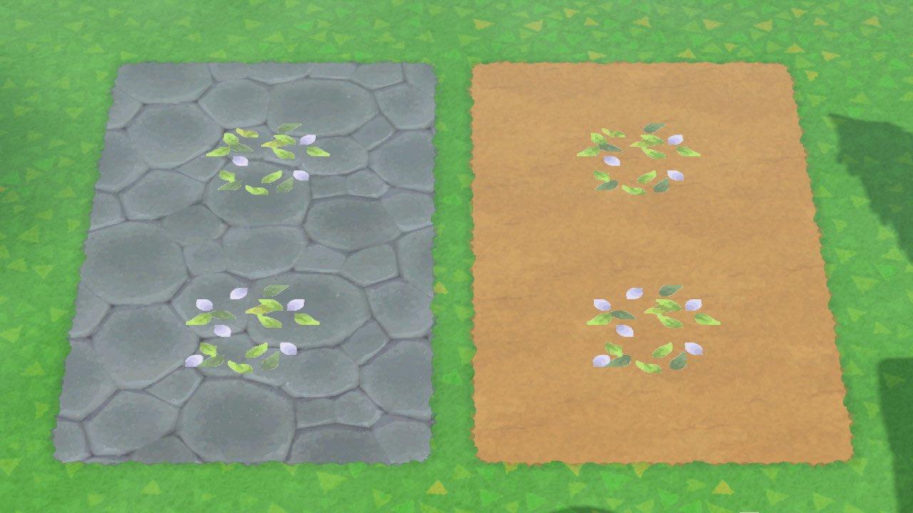 Leaves Petals Floor Pattern Set Animal Crossing Pattern Gallery Custom Designs