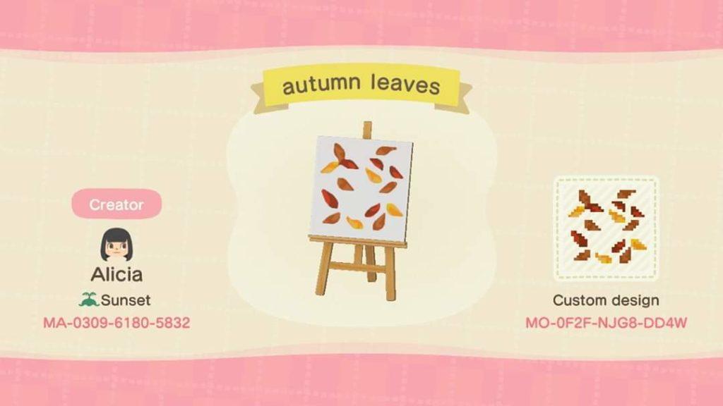 Autumn Leaves Animal Crossing Pattern Gallery Custom Designs