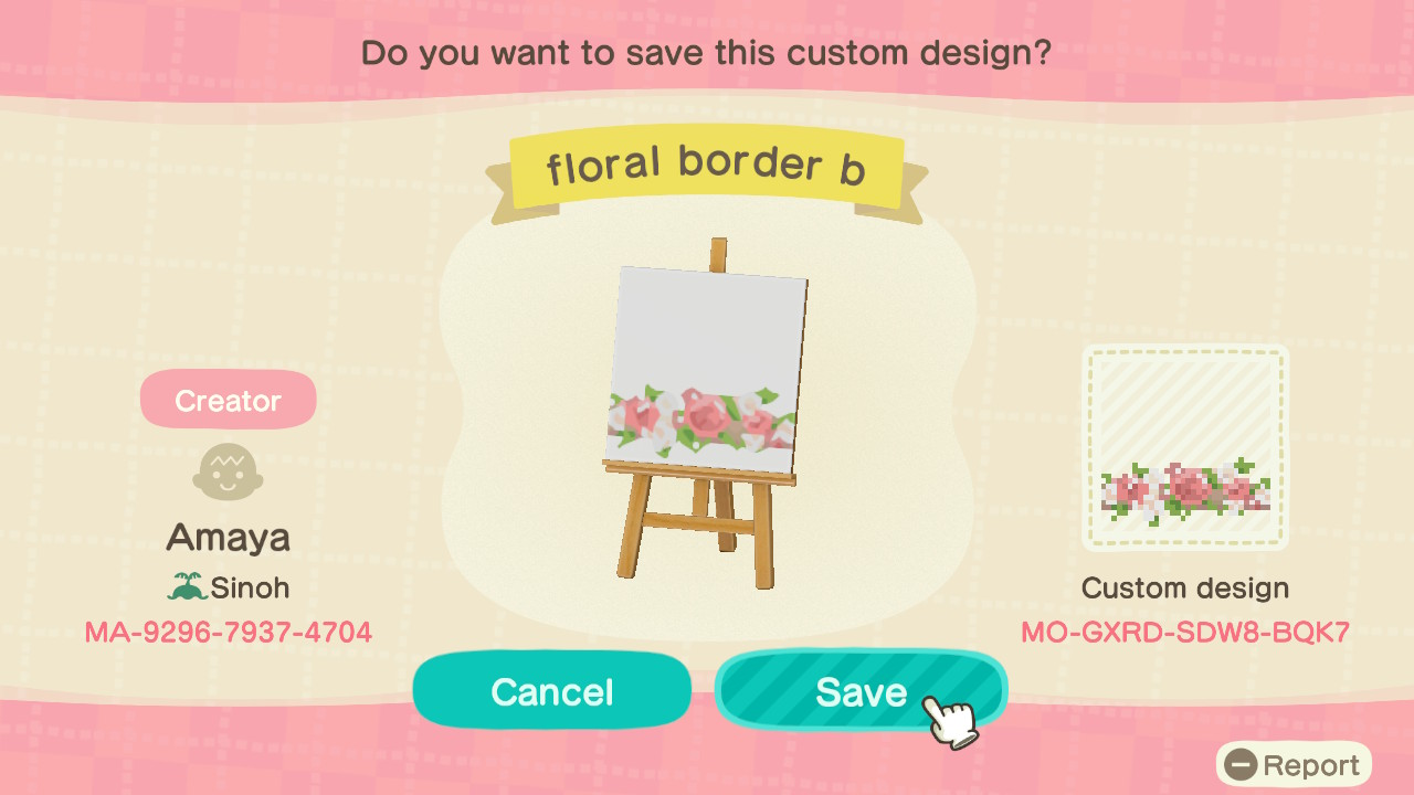 Transparent Floral Border Animal Crossing Pattern Gallery