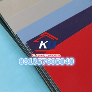Warna Coffee Tebal 3 mm Interior Aluminium Composite Panel ex Jiyu Murah