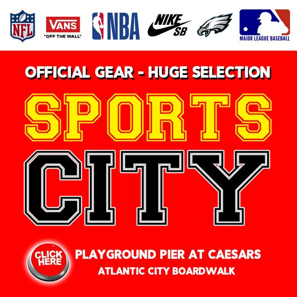 Sports City Atlantic City Vans Sneakers NFL Jerseys gear