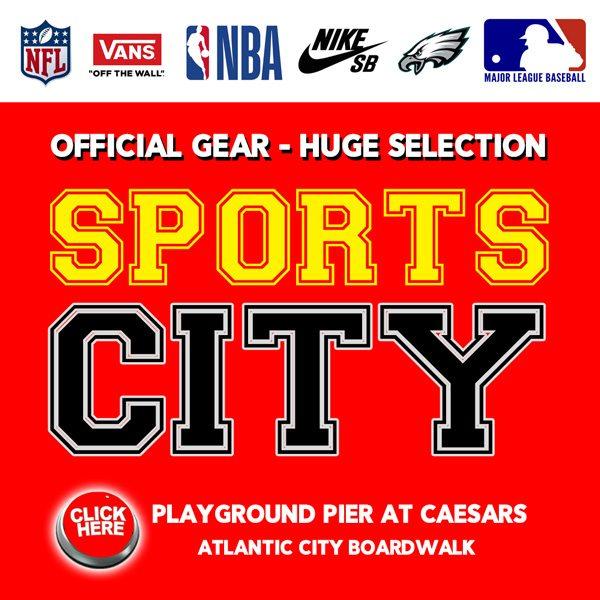 Sports City Atlantic City Vans Sneakers NFL Jerseys gear