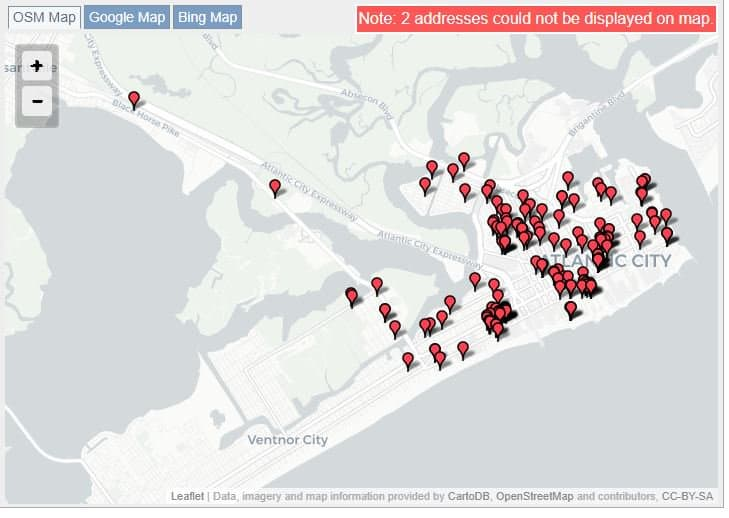 Atlantic City Sex Offender Map