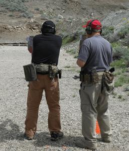 handguns walking