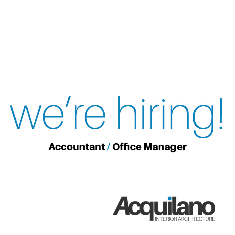 We're Hiring: Accountant/Office Manager