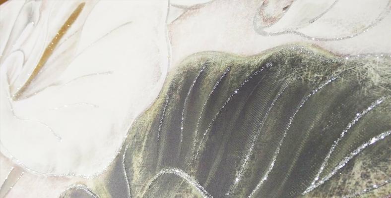 quadro moderno su tela con fiori calle montmartre