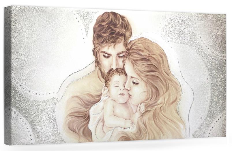Madonna, sacra famiglia, santi, capezzali che. Cod B006 Capezzale Quadro Moderno Su Tela Sacro Per La Camera Da Letto Ebay