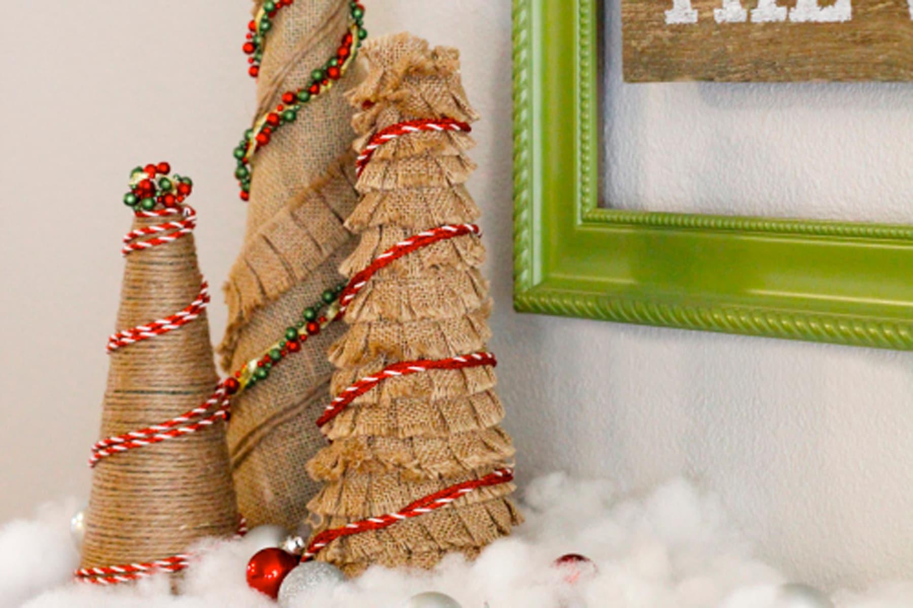How to Make Burlap Christmas Trees