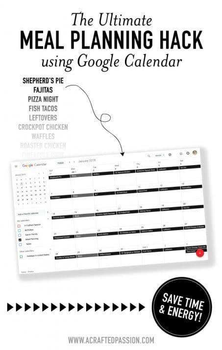 Meal Planning Using Google Calendar | The Ultimate Dinner Hack!