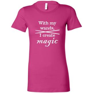 Knitting needles magic wands favorite t-shirt