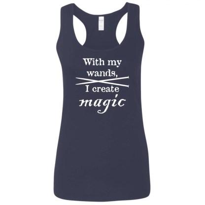 Knitting needles magic wands softstyle racerback tank